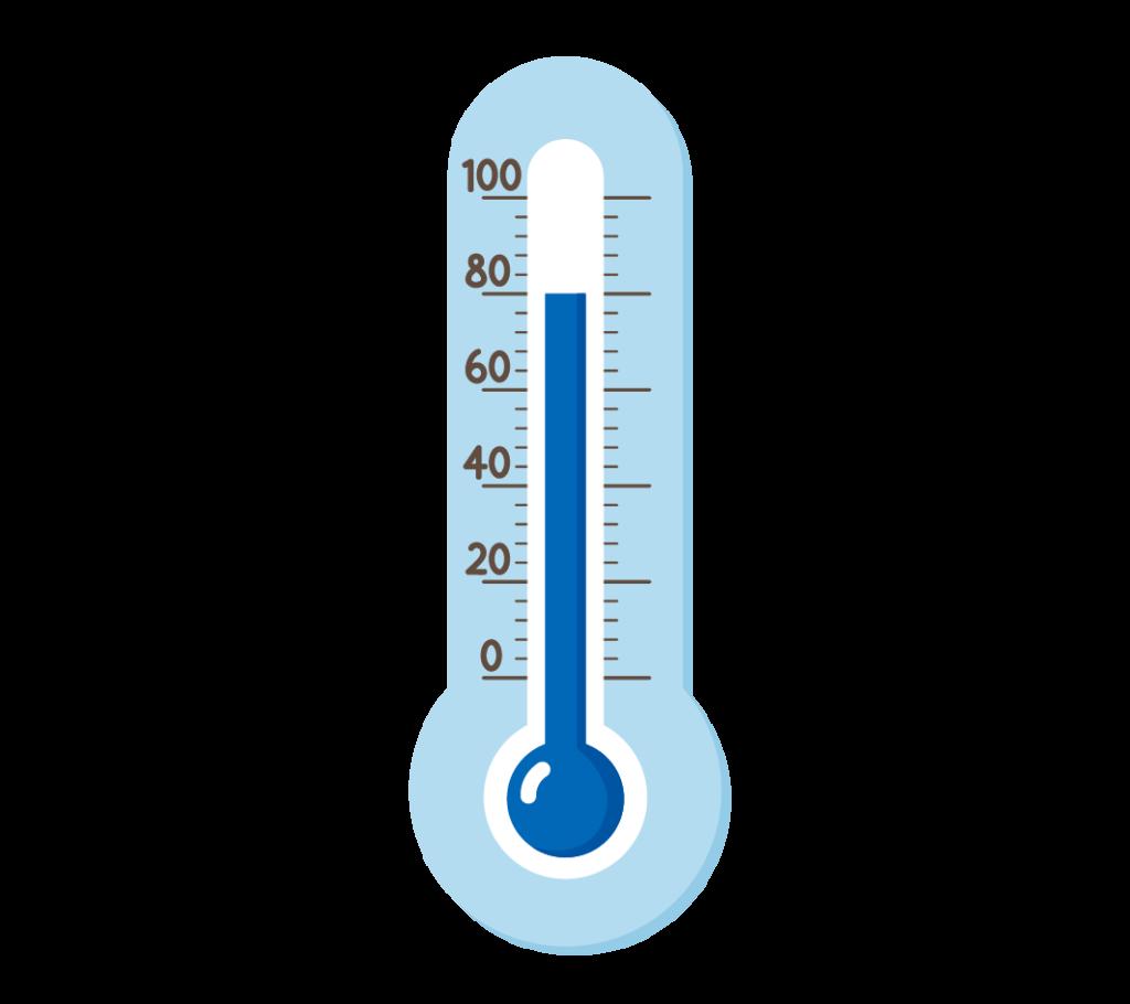 湿度計(高い湿度)のイラスト