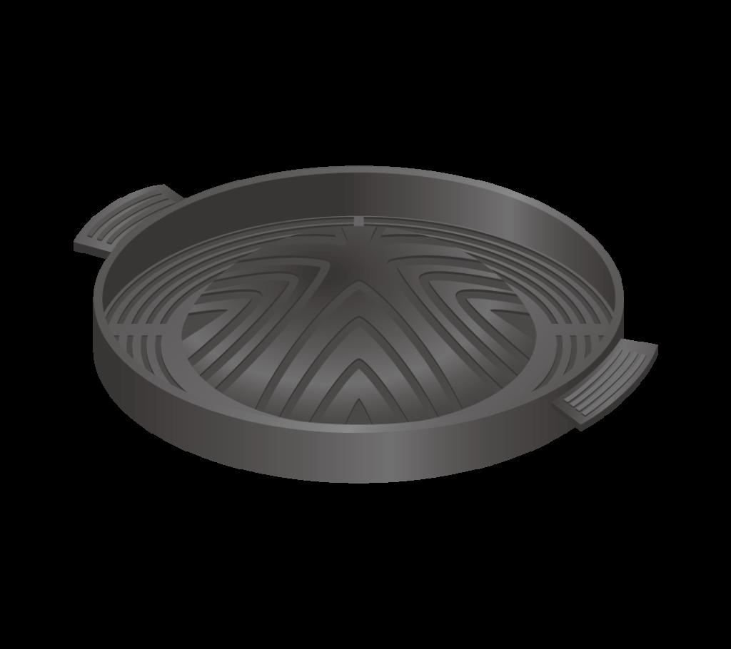 ジンギスカン鍋のイラスト