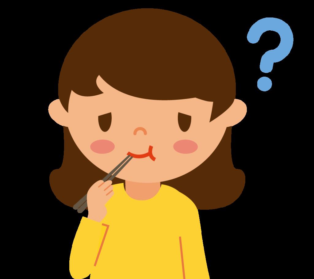 初期症状:味覚障害のイラスト
