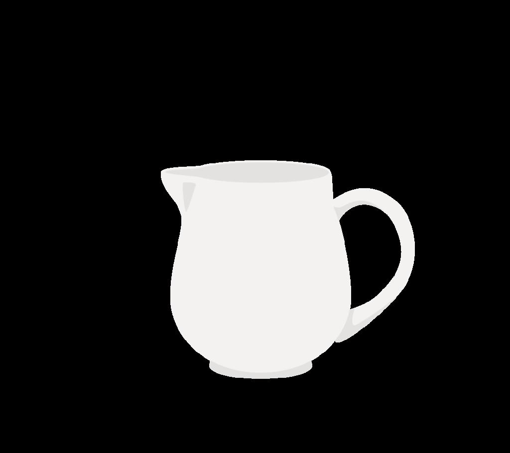 ミルクポットのイラスト