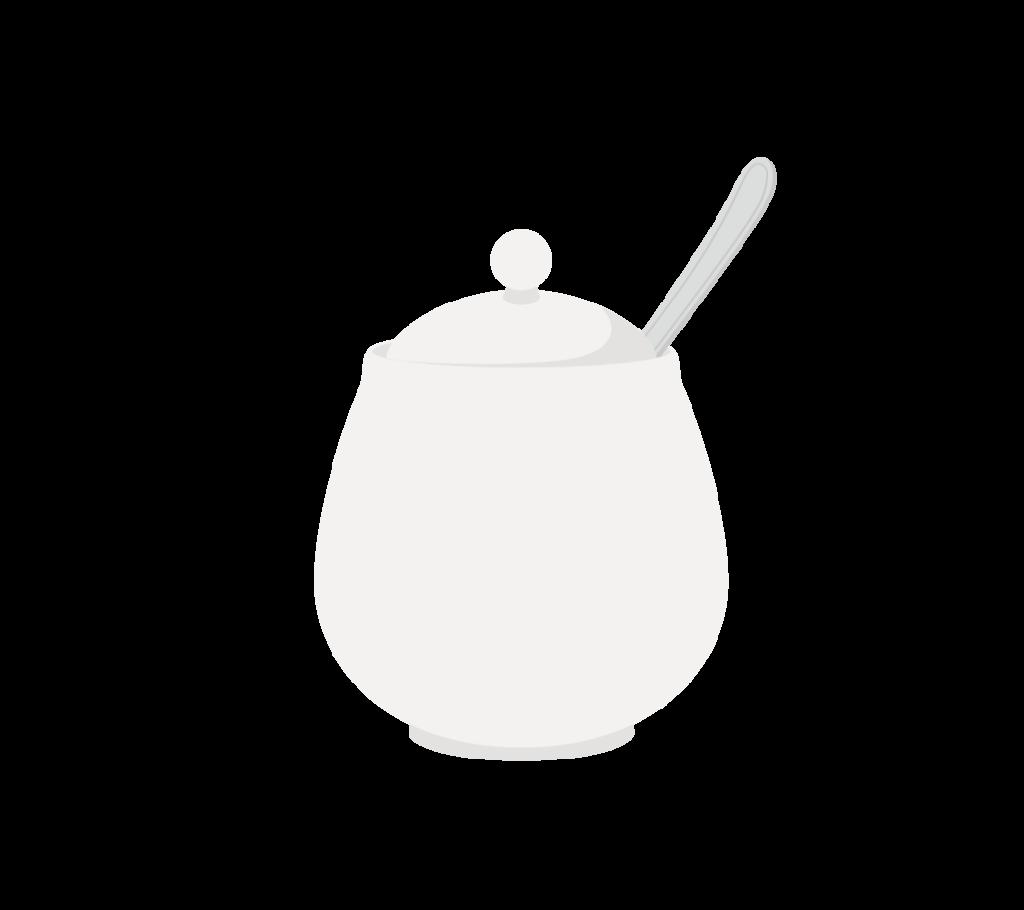 シュガーポットのイラスト