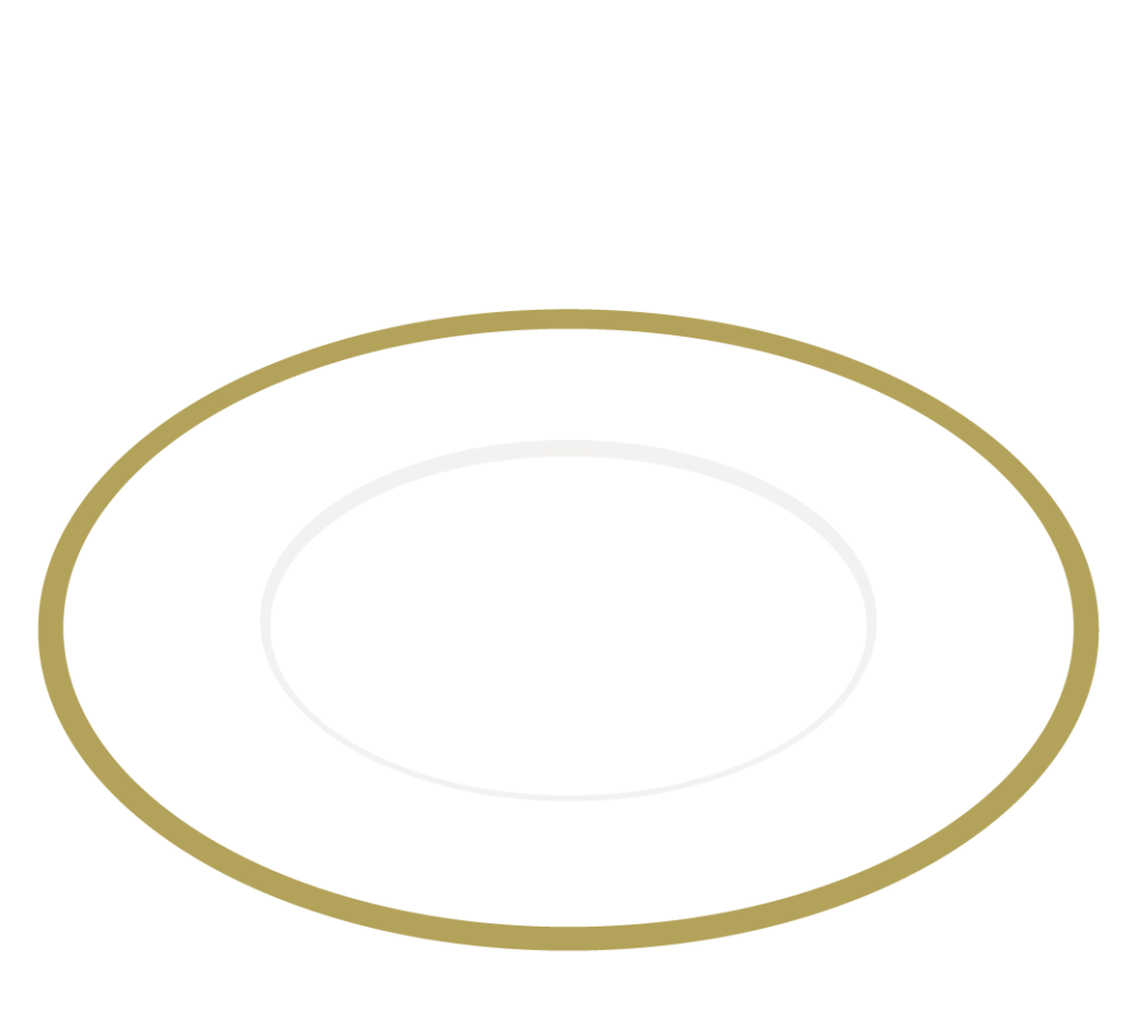 縁のあるお皿のイラスト