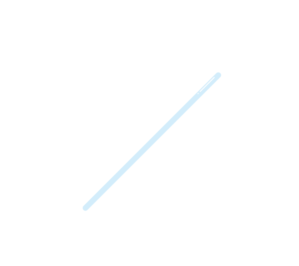 ガラス棒のイラスト