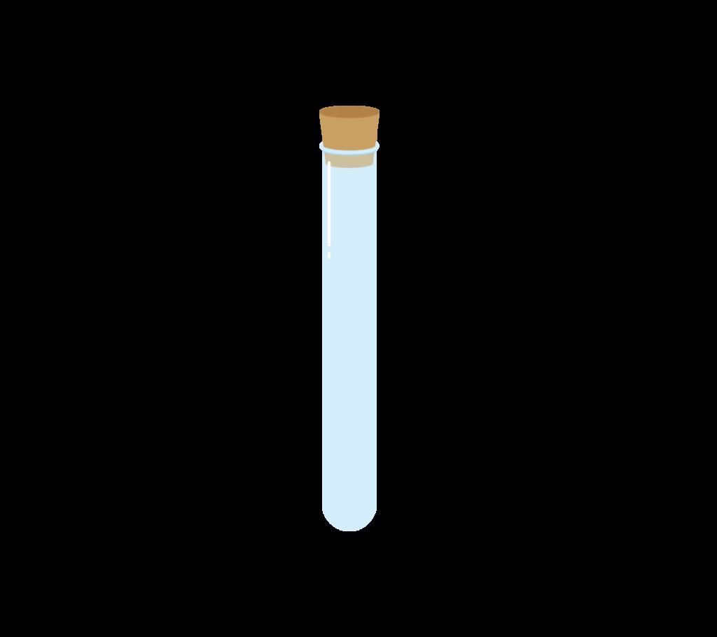 コルク栓付きの試験管のイラスト