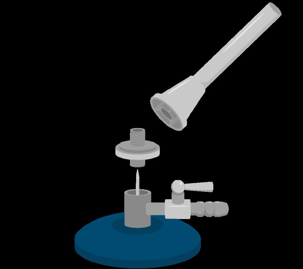 ガスバーナーの構造のイラスト