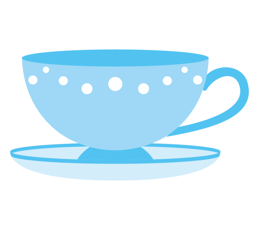 ティーカップ(ブルー)のイラスト