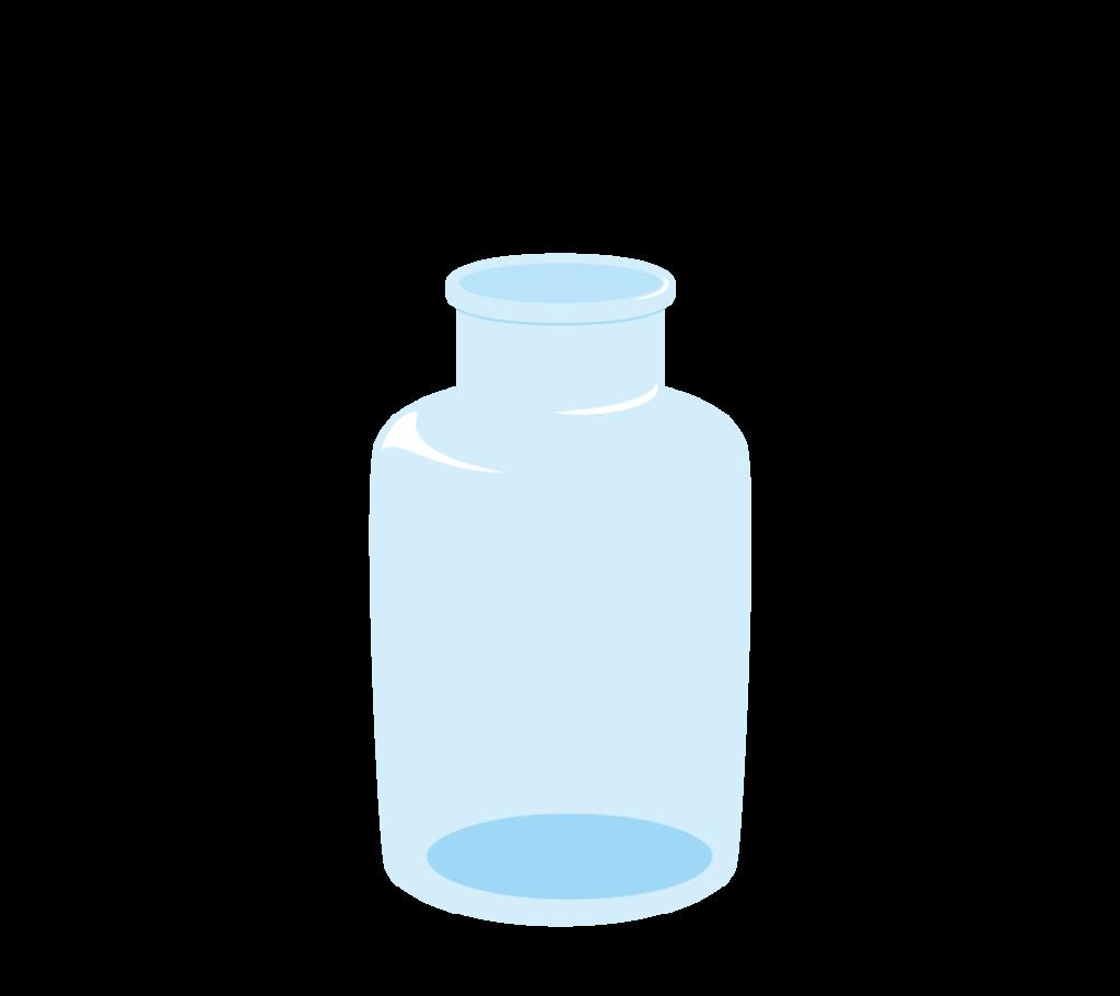 集気瓶(蓋なし)のイラスト