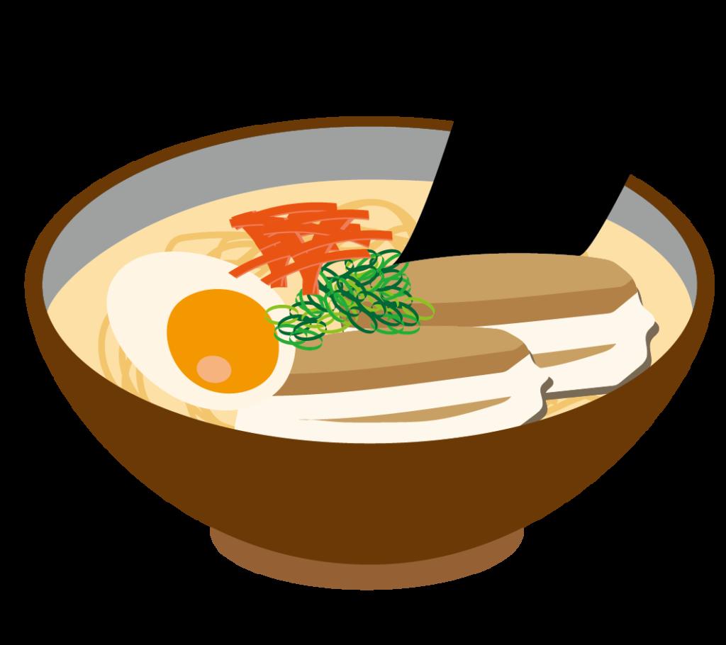 博多とんこつラーメンのイラスト