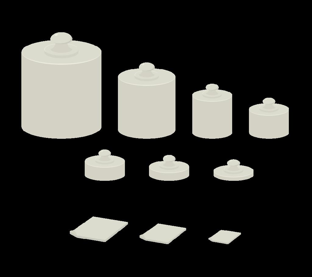 分銅のイラスト