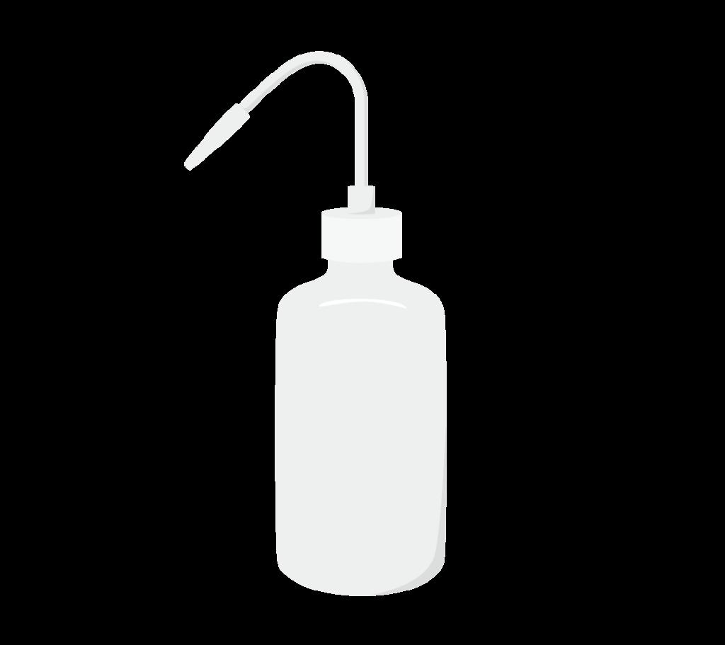 洗浄瓶のイラスト