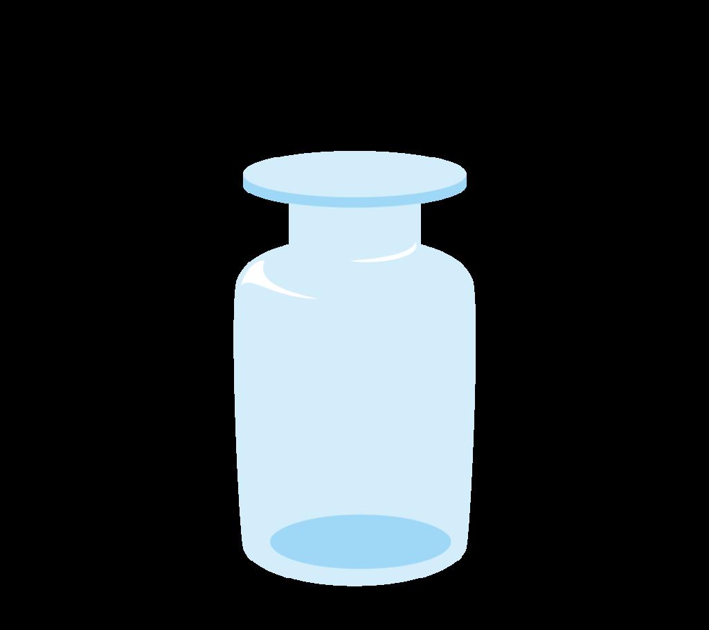 集気瓶(蓋あり)のイラスト