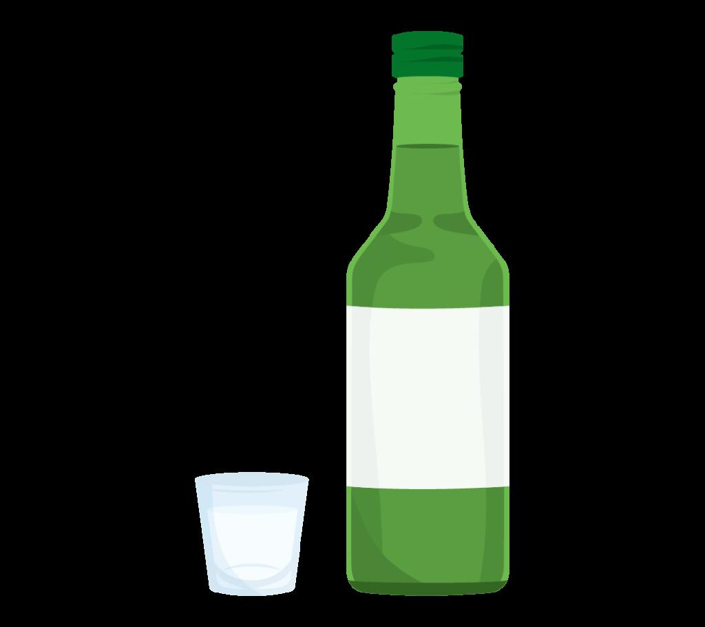 焼酎の瓶のイラスト