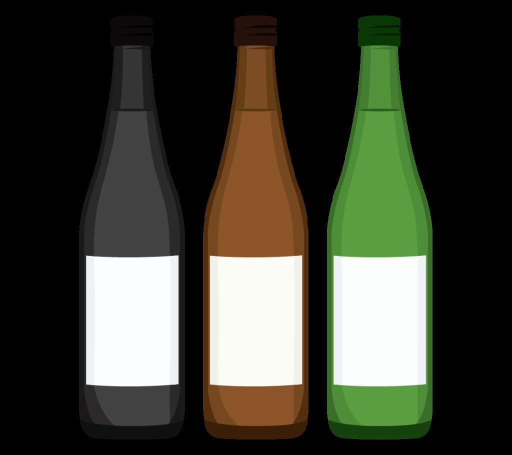 複数の日本酒のイラスト