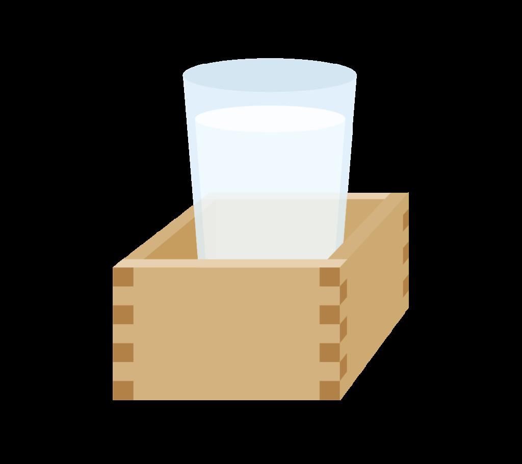 もっきり(日本酒)のイラスト