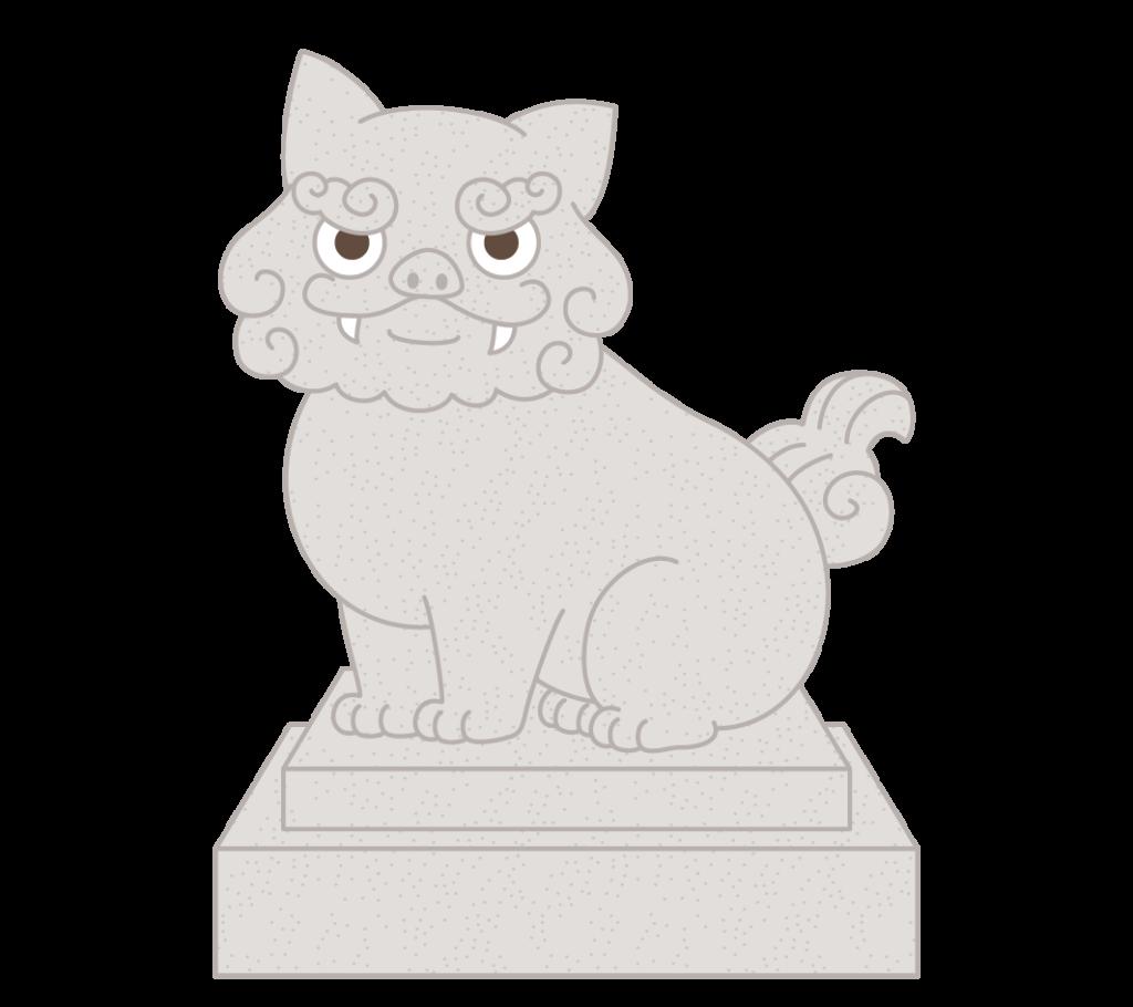 吽形(狛犬)のイラスト