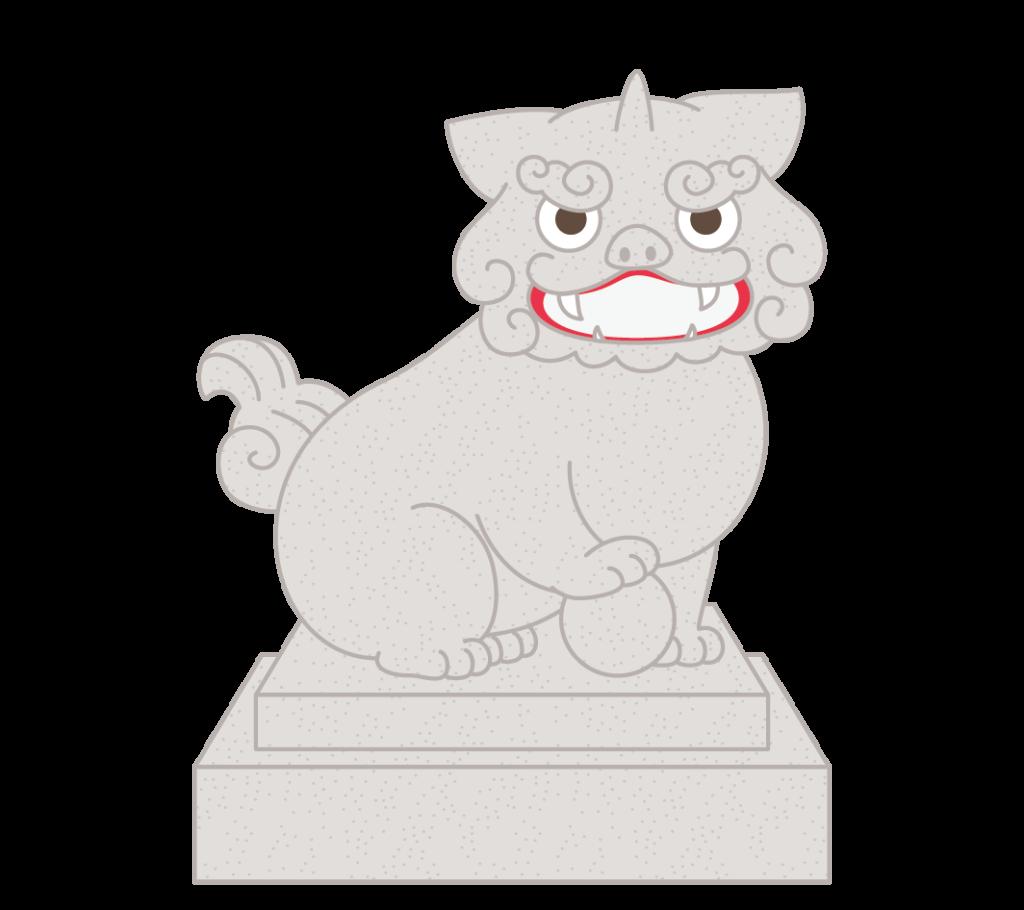 阿形(獅子)のイラスト